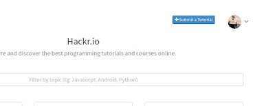 klik tombol Submit a Course/Tutorial