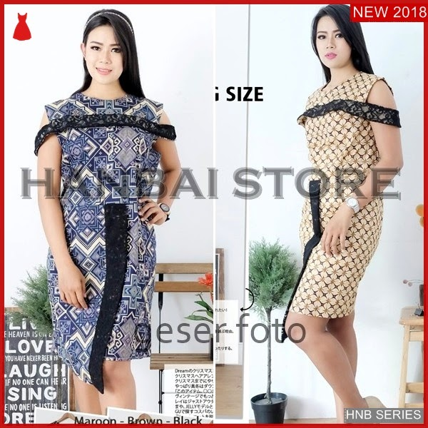 HNB207 Model Koleksi Blouse Batik Tile Ukuran Besar BMG Shop