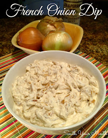 Homemade French Onion Dip made with caramelized onions, thyme, garlic and sour cream. So easy and so much better... you'll never buy it again!