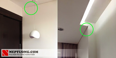 Sử dụng nẹp trần thạch cao Z10 tại chung cư cao cấp Mandarin hòa Phát