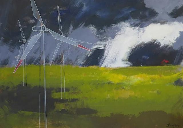 """""""Stille vor dem Sturm"""" Gemälde von Olga David Acryl auf Leinwand, 140x100cm"""