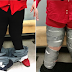 See the man caught trying to smuggle cocaine by taping it to his legs at the airport