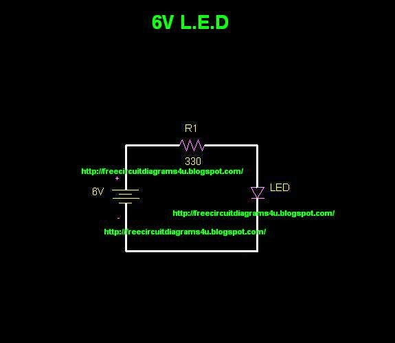free circuit diagrams 4u: 6v l.e.d circuit diagram l e d circuit diagram jeep tj wiring diagram for l e d lights