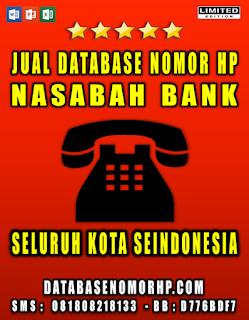 Jual Database Nomor HP Nasabah Bank