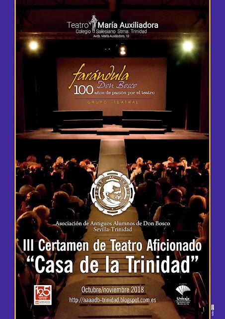 """III Certamen de Teatro Aficionado """"Casa de la Trinidad"""""""
