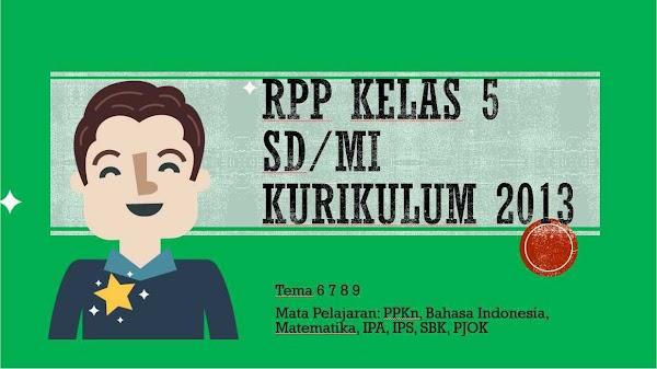 RPP Kelas 5 Semester 2 Kurikulum 2013 Revisi 2018 Tematik