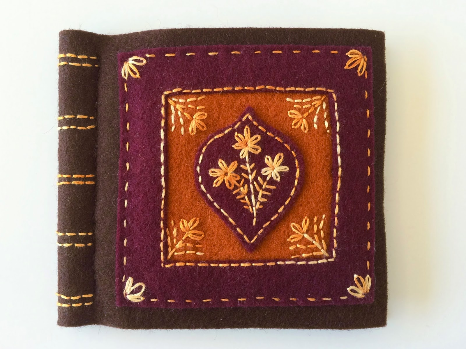 old leather book, felt