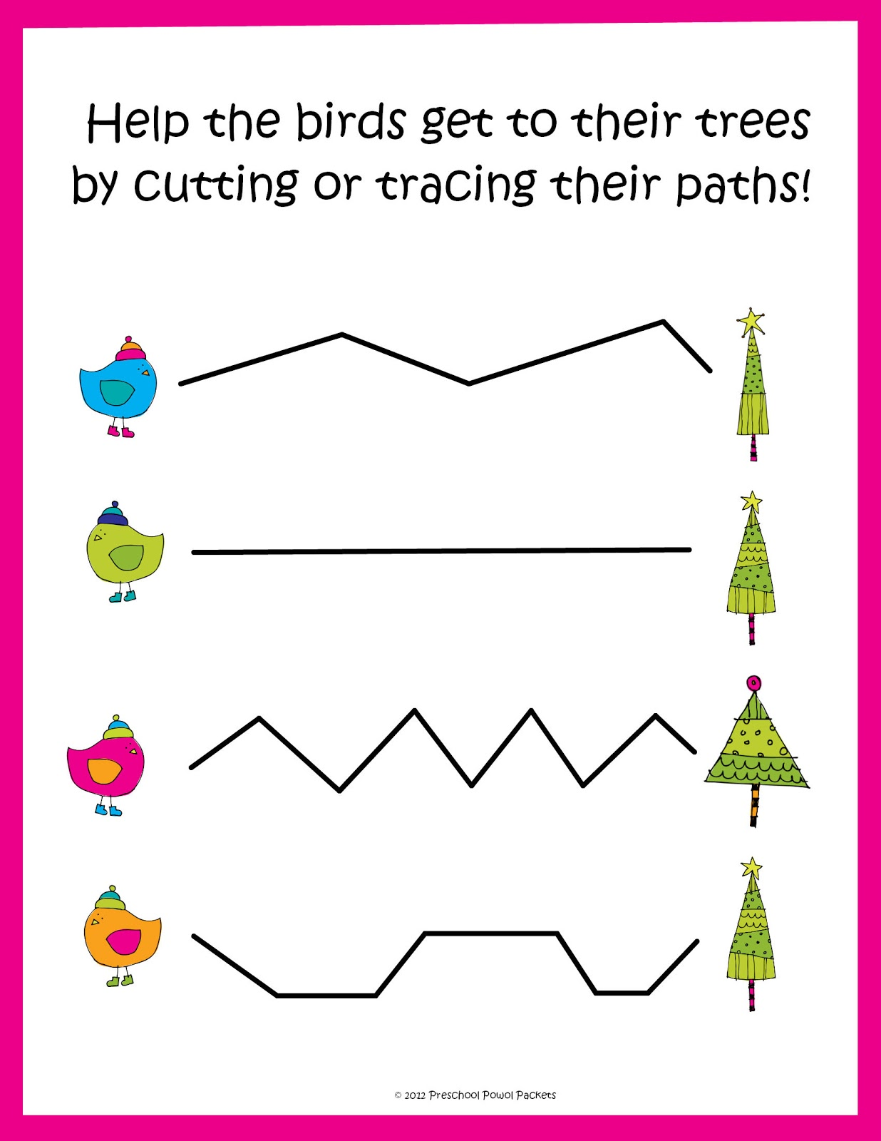 Free Christmas Tracing Cutting Practice Preschool