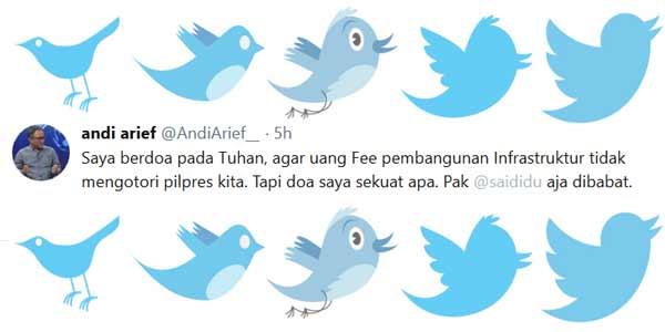 Andi Arief: Pak Said Didu Aja Dibabat
