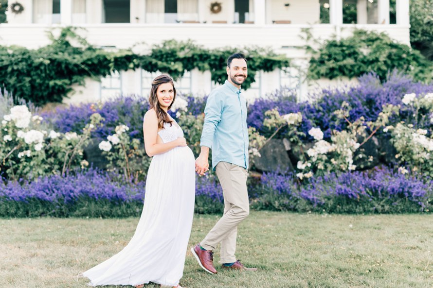 Lavender Field Maternity Session | Tacoma Photographers | Something Minted and Something More Photography