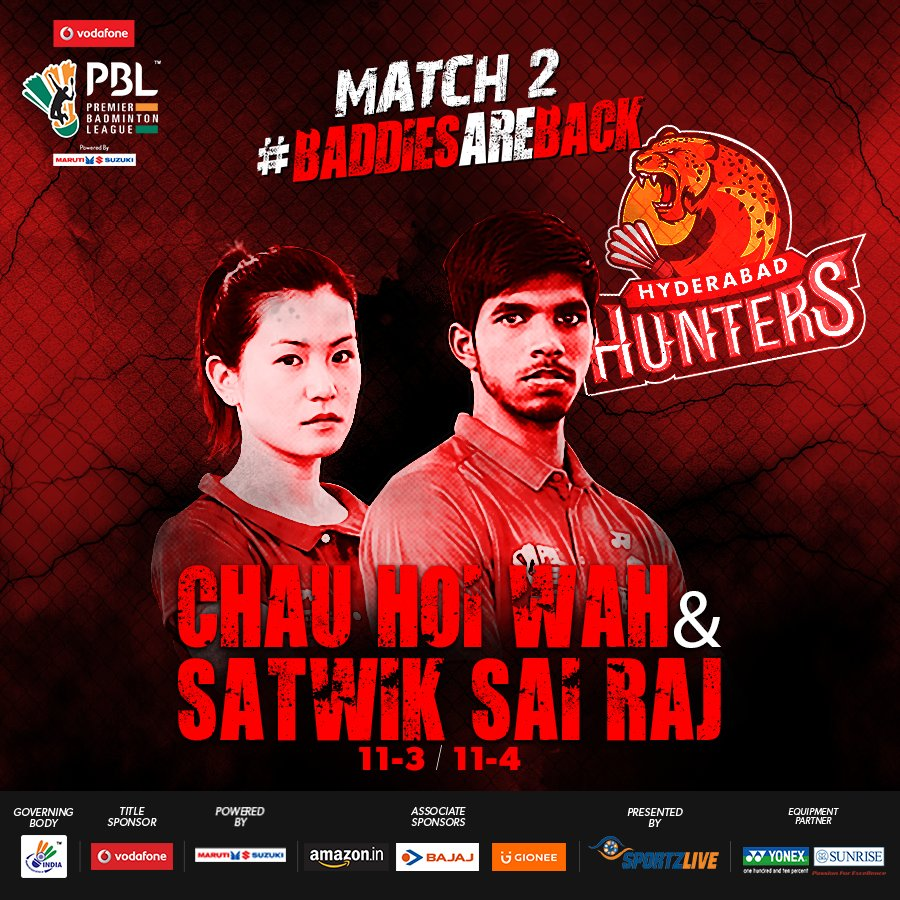 sports news PBL 2017 LIVE DELHI ACRES VS HYDERABAD HUNTERS
