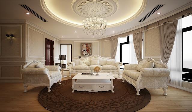 Mẫu thiết kế nội thất phòng khách chung cư Louis City