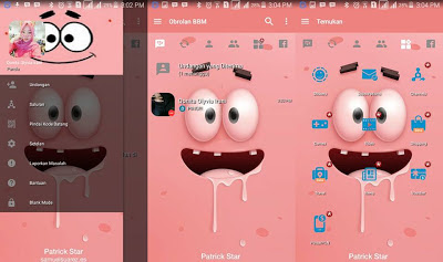 BBM MOD Pink Cute v3.2.0.6 APK (BBM MOD Patrick Soft)