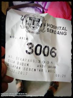 nombor giliran hospital Serdang 3006