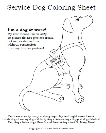 assistance dogs coloring pages - photo#8