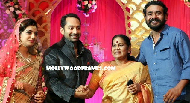 KPAC Lalitha and Siddharth Bharathan @ Nazriya reception