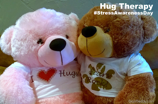 Giant Teddy Bear Hug Therapy on National Stress Awareness Day