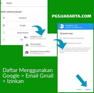 Aktivasi Pendaftaran Akun Tokopedia Melalui Aplikasi