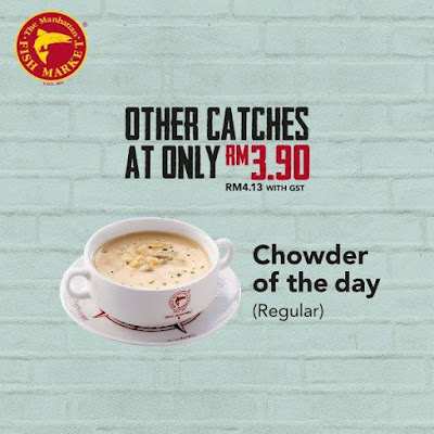 The Manhattan FISH MARKET Regular Chowder of the Day