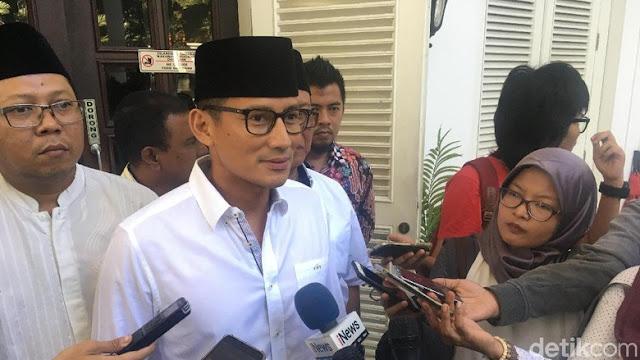 Sepakat dengan TGB, Sandi: Gerindra Tak Pakai Isu SARA di Pilpres