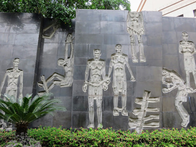 Artwork at Hỏa Lò Prison (aka the Hanoi Hilton) in Vietnam