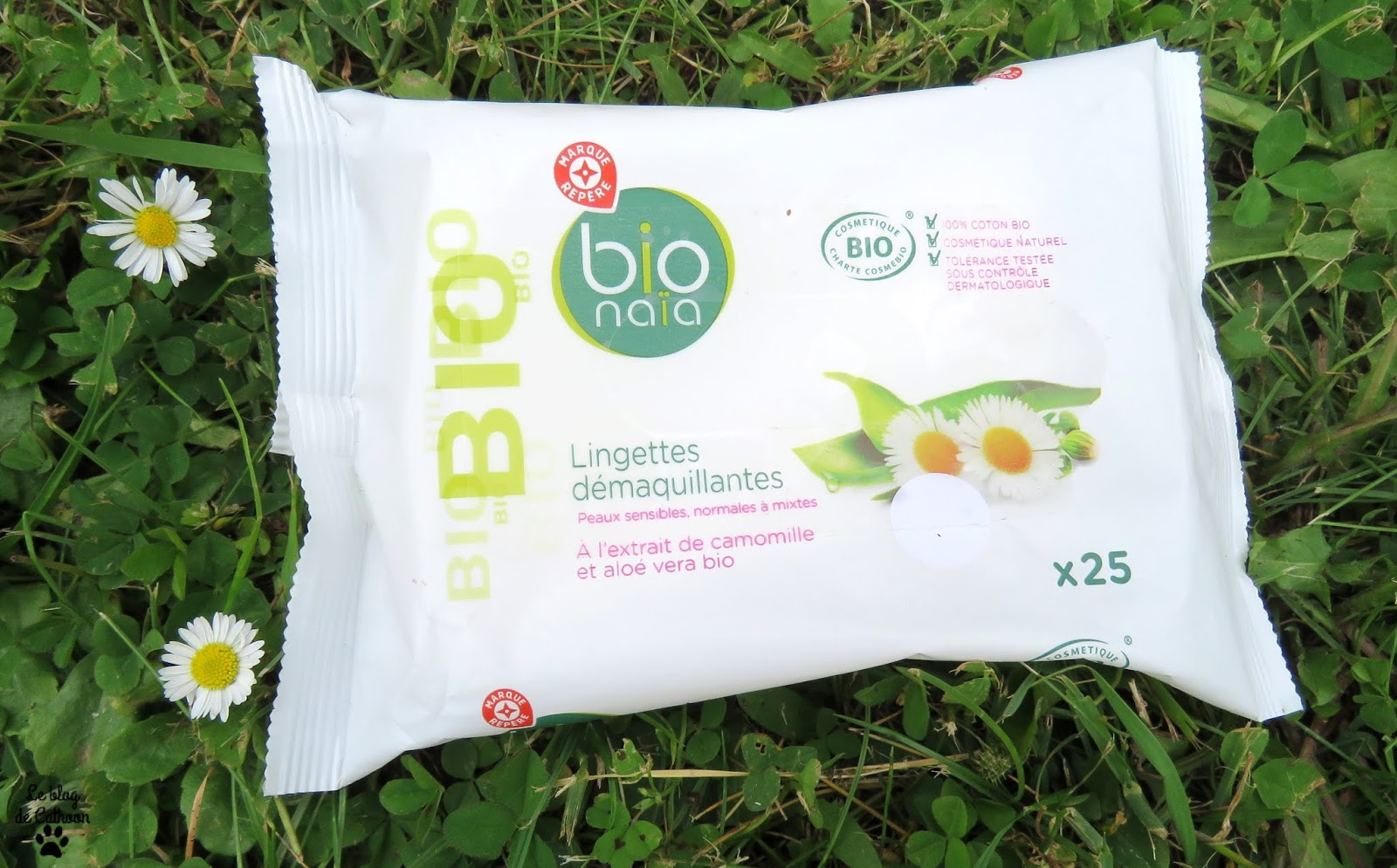 Lingettes démaquillantes Bio - Bio Naïa - Marque Repère Leclerc