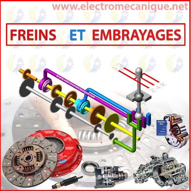 utilisation et fonctionnement des embrayages et des freins