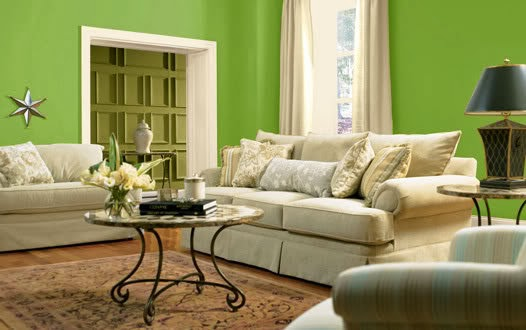 Dise os de salas color verde salas con estilo for Diseno de paredes para salas