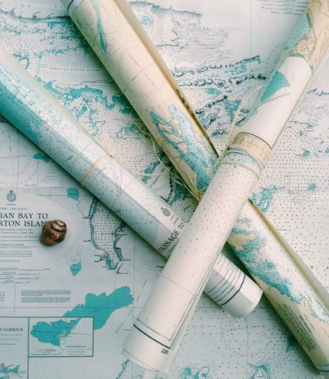 Nautical Chart Wallpaper