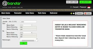 Cara Deposit Di Situs Agen Judi Poker Online QBandars.net - www.Sakong2018.com