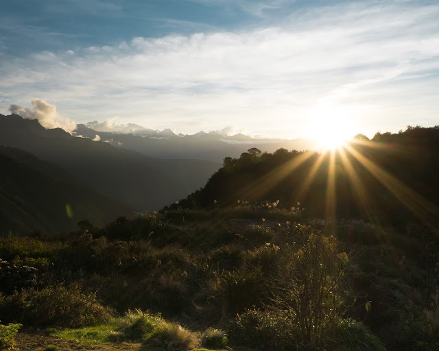 Inca Trail sunset