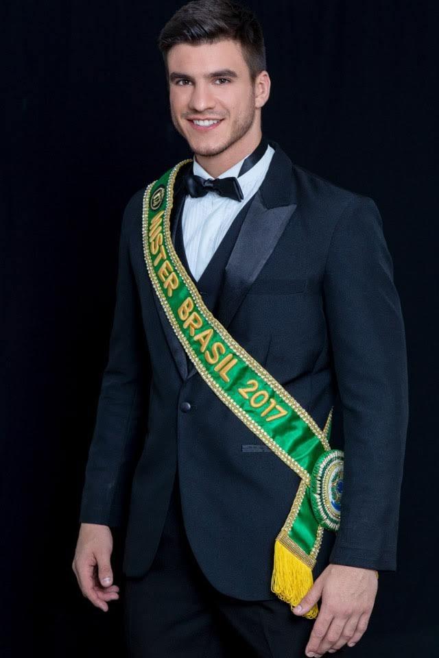 Bruno Poczinek, Mister Brasil 2017. Foto: Paulo Stempfer