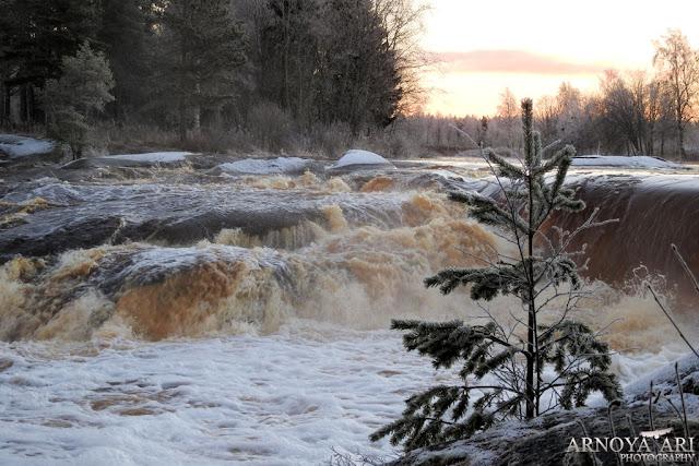 Hourunkoski, Pyhäjoki, talvi