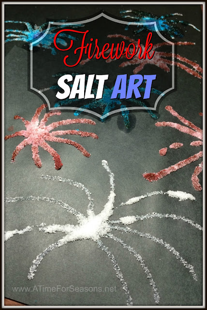 Firework Salt Art