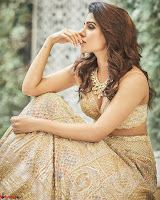 Samantha Ruth Prabhu Stunning in Brown Wedding Lehena ~  Exclusive Celebrities Galleries 004.jpg
