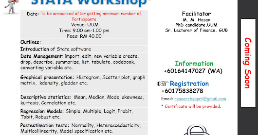 Stata workshop one