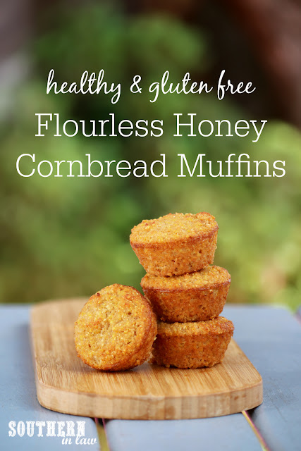 Healthy Flourless Honey Cornbread Muffins - gluten free, healthy, refined sugar free, dairy free, nut free, soy free, coconut flour, fluffy cornbread, clean eating recipe