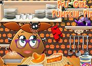 Pou Girl Pumpkin Pie
