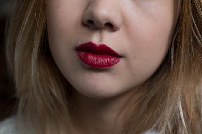 bite beauty matte creme lip crayons red velvet worn