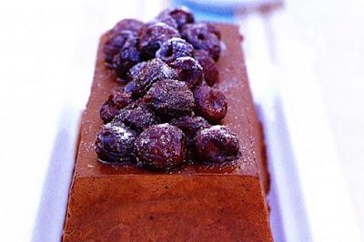 Chocolate marquise with vanilla roast cherries desserts recipes