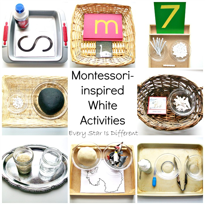 Montessori-inspired White Activities