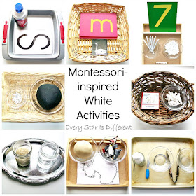 Montessori-inspired White Activities with Free Printables