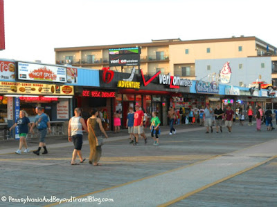 The Sights on the Boardwalk in Wildwood New Jersey