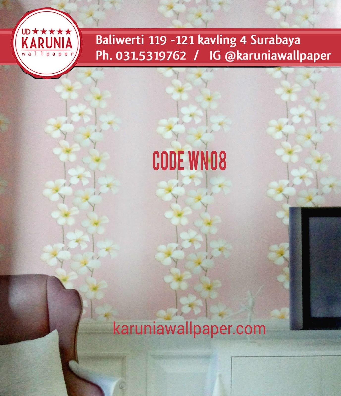 jual wallpaper dinding bunga pink shabby chic