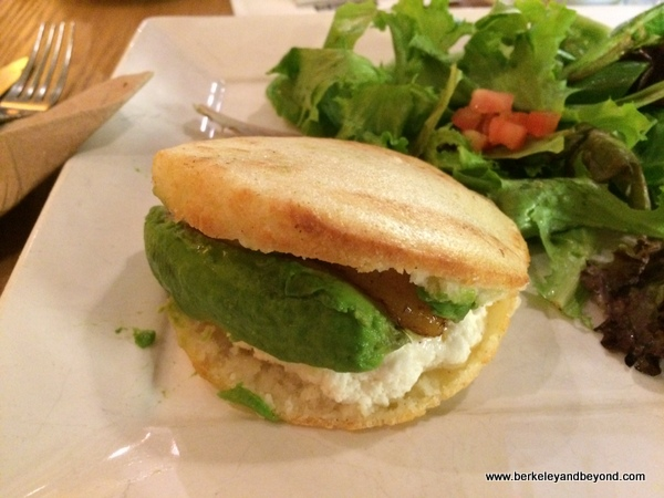 cami arepa at Coupa Cafe in Palo Alto, California