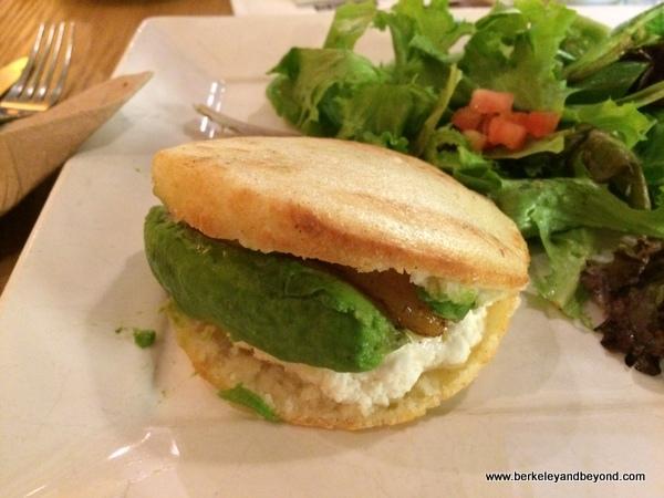 cami arepa at Coupa Cafe in Palo Alto, California