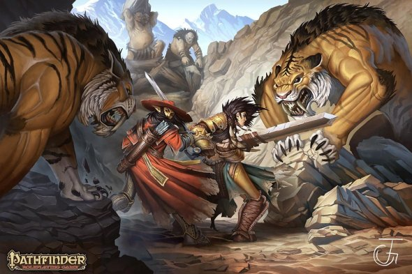Johan Grenier deviantart artstation arte ilustrações fantasia games rpg pathfinder paizo