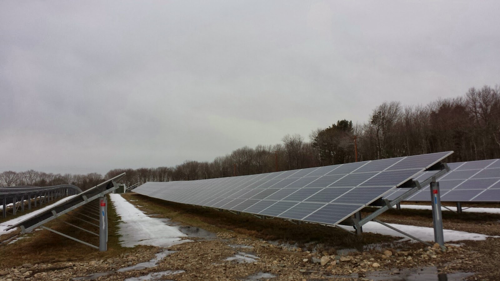 the solar farm at Mount St Mary's earlier this year