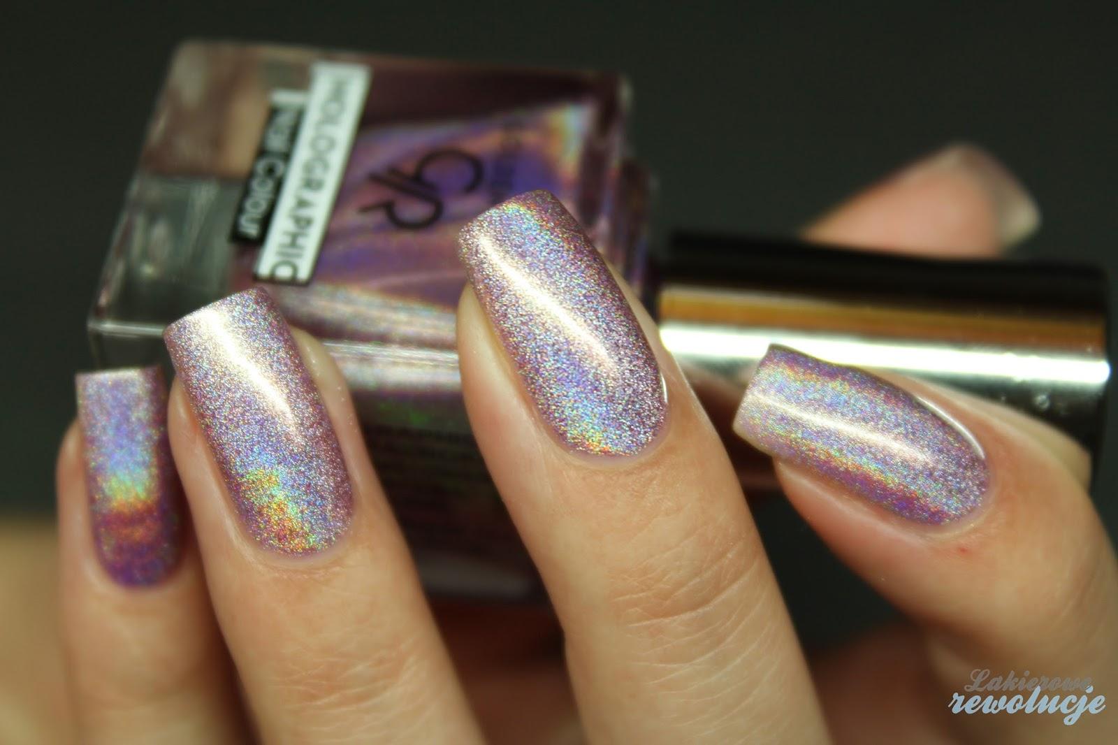 Holographic Nail Polish Golden Rose