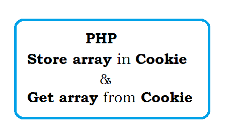 How to store array in Cookie and retrieve array from cookie